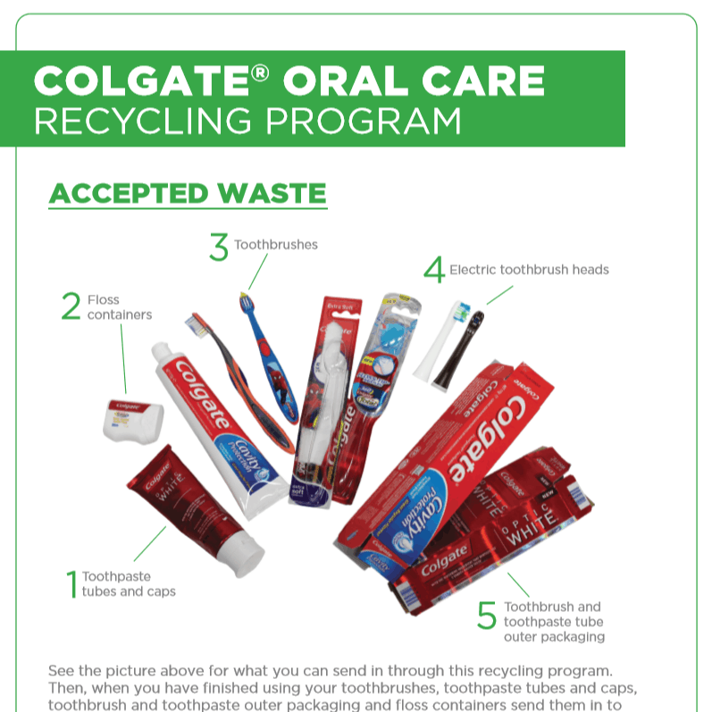 Oral waste recycling